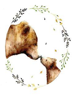 Bear Nursery, Animal Nursery, Girl Nursery, Nursery Decor, Wall Decor, Woodland Nursery, Room Decor, Nursery Room, Bedroom