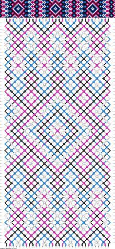 friendship bracelet pattern ● 32 strings ● 4 colors ● A-D(8)