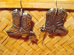 Sterling Silver Cowboy Boot and Star Spur by AntiqueAlchemists, $15.00