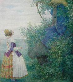 Heinrich Lefler - (Austrian, 1863 -1919) - Fairytale Illustration