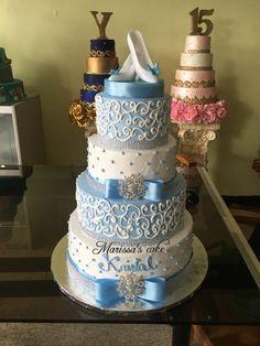 Cinderella quinceanera cake. Visit us Facebook.com/marissascake or www.marissascake