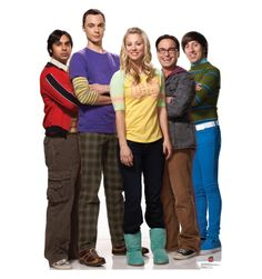 The Big Bang Theory Cardboard Cutout Penny, Sheldon, Howard, Raj and Leonard