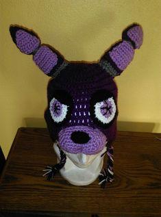 huge discount bc09a ca732 Crochet hat Five Nights at Freddys- Bonni  Gorro Crochet Cinco Noches en  Freddys- Bonni