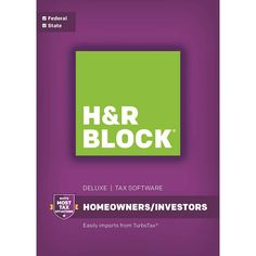 H&R Block Tax Software Deluxe: Homeowners/Investors Federal and State - Mac|Windows, 1336600-16
