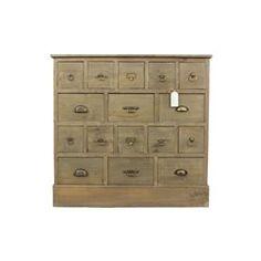 meuble semainier chiffonnier grainetier bois 16 tiroirs ceruse blanc 96x38x92cm decoration d. Black Bedroom Furniture Sets. Home Design Ideas