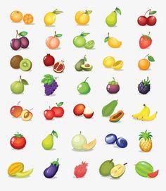 Coleção de desenhos de frutas, Desenhos De Frutas, Frutas, Material De Desenho Animado PNG Image and Clipart
