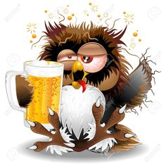 40964986-Drunk-Owl-Fun-Cartoon-Stock-Vector-funny.jpg (1300×1300)