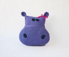 $3.99 Hippo Pillow #Crochet
