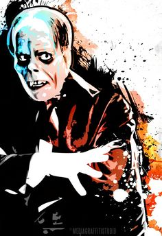 The PHANTOM of the Opera Pop Art movie monster original illustration - mediagraffitistudio