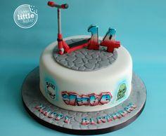 Stunt Scooter Birthday Cake