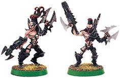 Dark Eldar Wyches with Assault Weapons Warhammer 40k Dark Eldar, Assault Weapon, Weapons, Weapons Guns, Guns, Weapon, Gun, Firearms