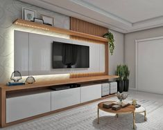 15 TV Cabinet Designs That Will Make Your Living Room Ultra Stylish New Living Room, Living Room Interior, Living Room Decor, Living Room Tv Unit Designs, Ceiling Design Living Room, Tv Cabinet Design, Tv Wall Design, Tv Wanddekor, Tv Wall Cabinets