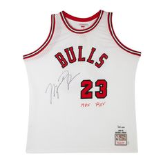 d337f687e1123e MICHAEL JORDAN Signed   Embroidered Chicago Bulls M N Rookie Jersey LE of  223 UDA. Nba