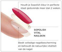 Dit sopolish Protect & Peel systeem houdt twee weken op de nagels. Dit systeem is niet schadelijk voor de nagels. #sopolish #nagels