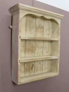 display shelves | Large antique pine spice rack, display shelves.