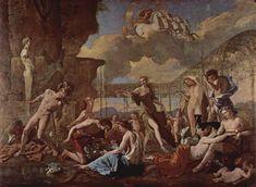 Nicolas Poussin: El reino de Flora (con Ayax suicidándose a la izquierda)