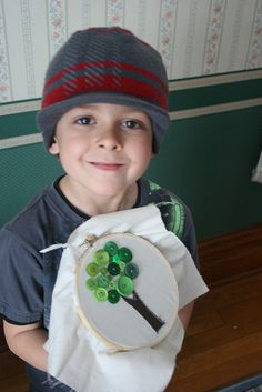 teaching kids to sew buttons