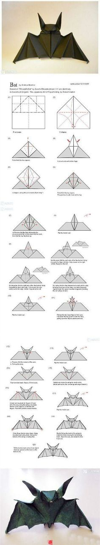 #origami #bat #paper #tutorial #stepbystep
