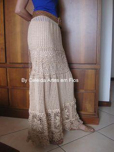 Saia longa em crochê! http://celeidapaixaoportrico.blogspot.com.br/2013/01/saia-longa-em-croche.html