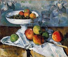 Compotier, Glass and Apples (also known as Still Life with Compotier) - Paul Cézanne - 1880