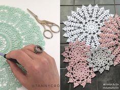 Hypnotizing Mandalas with Free Crochet Patterns Crochet Mandala, Handmade Decorations, Doilies, Free Crochet, Free Pattern, Crochet Earrings, Projects To Try, Appliques, Mandalas