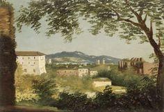Pierre-Henri de Valenciennes, Etude de paysage à Rome, dite A la villa Farnèse on ArtStack #pierre-henri-de-valenciennes #art