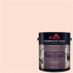 Kilz Complete Coat Interior/Exterior Paint & Primer in One #LC170-01 Vintage Thread, 1 gal, Semi-Gloss, Multicolor