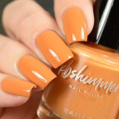 best=KBShimmer Please Don t Glow Girl Neon Orange Cream Nail Polish Simplicity Dress Bright Summer Acrylic Nails, Summer Nails, Spring Nails, Fall Nail Colors, Nail Polish Colors, Cute Nails, My Nails, Glow, Cream Nails