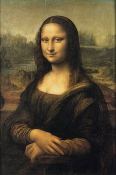 LATER LEONARDO DA VINCI: Mona Lisa, oil on panel, 77 x 53 cm, Louvre, Paris. This portrait was painted in Florence between 1503 and 1506. It is thought to be of Lisa Gherardini, wife of a Florentine cloth merchant named Francesco del Giocondo. However, Leonardo seems to have taken the completed portrait to France rather than giving it to the person who commissioned it.