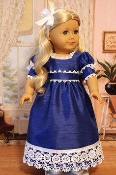 Regency Gown for Caroline by BabiesArtUs on Etsy $55.00