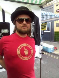 Stuart, from the band Mission Peace, rockin' our One Chief Rocka tee from our Studio Range..  'Mission peace will support Organik Rocka '  New tees from the Studio Range coming soon!