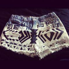 Diy tribal shorts