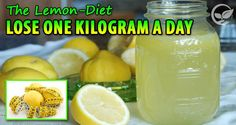 Lose One Kilogram A Day With The Lemon-Diet!