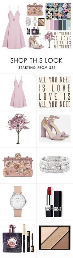 """Formal"" by marinamoncada ❤ liked on Polyvore featuring Giambattista Valli, Sugarboo Designs, JustFab, Dolce&Gabbana, Sole Society, CLUSE, Christian Dior, Yves Saint Laurent and Elizabeth Arden"