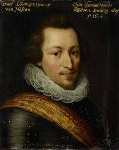 Workshop of Jan Anthonisz. van Ravesteyn, Portrait of Lodewijk Günther (1575-1604), graaf van Nassau, ca. 1609 - 1633, Rijksmuseum Amsterdam (SK-A-526)
