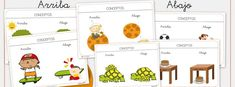 Arriba y abajo Speech Therapy, Comics, Character, Spanish, Teaching Supplies, Descendants, Concept, Speech And Language, Teaching Resources