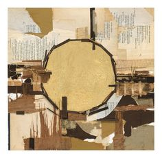 """Katie Dell Kaufman, """"Imperfect"""", Collage, gold leaf, 2009"""