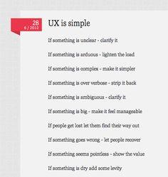UX is simple