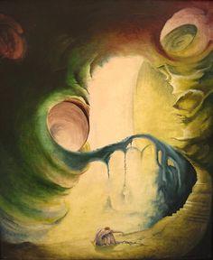 """""""Tęsknota"""", płótno, olej - 50 x 65 cm. 1984 r."""