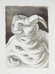 """""""Fusion 19"""" von Matthias Triet   Acryl auf Aquarellpapier   30 x 40 cm   www.einfachKunst.ch   Art   Basel   Schweiz"""