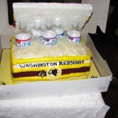 Washington Redskins cooler cake