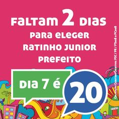 Faltam 2 dias para eleger Ratinho Junior Prefeito! #novasideiasja