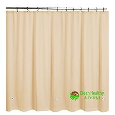 Clean Healthy Living #Premium #PEVA Shower Liners are non-toxic, odorless, and full of features. Order today and you'll avoid headaches from terrible plastic sme...