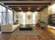 Living Room Images, Home Living Room, Japan Modern House, Mcm House, Modern Home Interior Design, Home Ceiling, Floor Seating, House Rooms, House Design