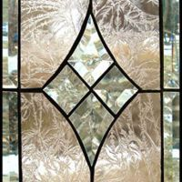 Peach Dream Stained Glass Panel | AfricanSand - Glass on ArtFire