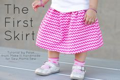 Make It Handmade: The First Skirt-- This is an easy detailed sewing tutorial that walks you through making a skirt-- from cutting to pressing to pinning and sewing.