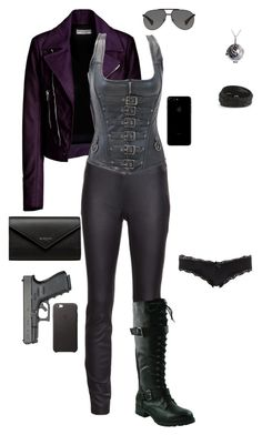 A fashion look from September 2016 featuring Balenciaga, legging pants and sexy lingerie. Bad Girl Outfits, Girly Outfits, Grunge Outfits, Stylish Outfits, Cool Outfits, Spy Outfit, Queen Outfit, Hunter Costume, Warrior Outfit
