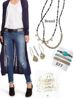 denim? #navyobsessed ? White tank? this set is a style #musthave Brazil, contempo and bff  #pdstyle #pdjewelry #kellysstylecenter #sparkle #bling #premierjewelry #momboss #workingmom  #workfromhome #selfemployed #freejewelry  #fashion #momlife #jewelry  #ontrend  #styleshow  #accessorystylist  #kjoutfitoftheday  #highfashionjewelry  #khallthingsbeYOUtiful #dreamjob  #premiereveryday #accessorystylist