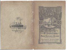 Leland SS Line Saloon Passenger List, S.S. Cestrian, Liverpool-Boston, 1900 | eBay