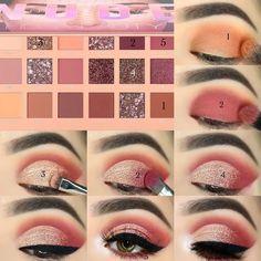 Makeup Tips Eyeshadow, Soft Eye Makeup, Eye Makeup Steps, Makeup Eye Looks, Eye Makeup Art, Smokey Eye Makeup, Eyebrow Makeup, Beauty Makeup, Makeup Order